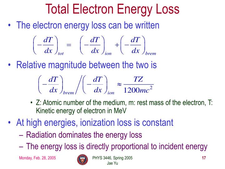 Total Electron Energy Loss