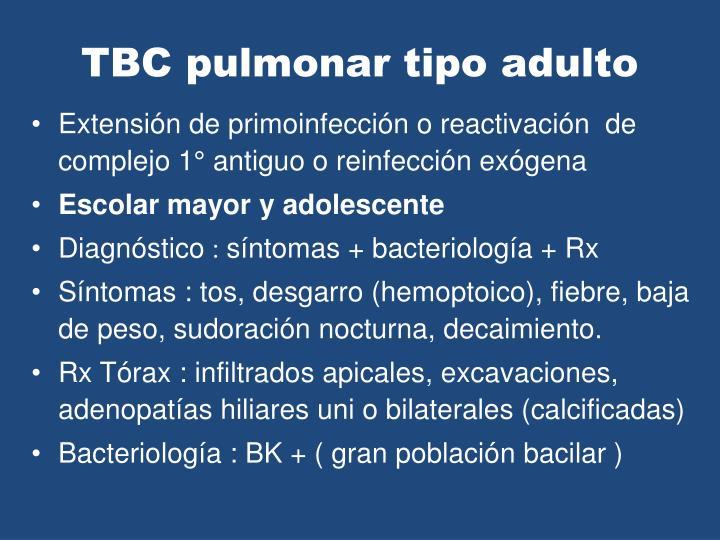 TBC pulmonar tipo adulto