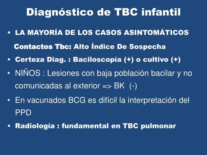 Diagnóstico de TBC infantil