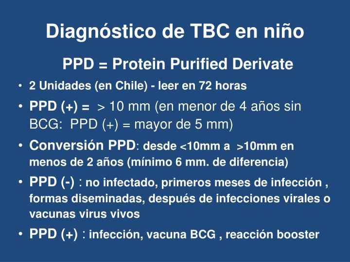 Diagnóstico de TBC en niño