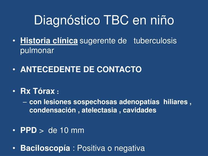 Diagnóstico TBC en niño