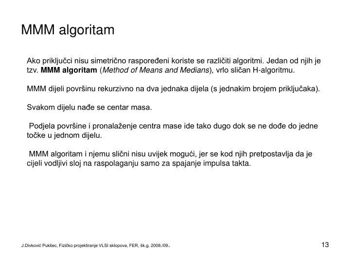 MMM algoritam