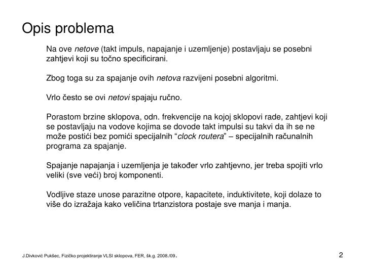 Opis problema