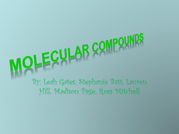 Molecular Compounds