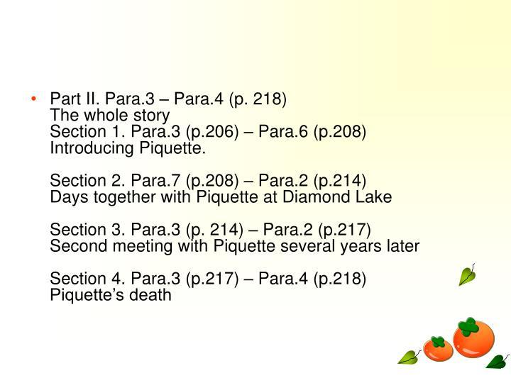 Part II. Para.3  Para.4 (p. 218)