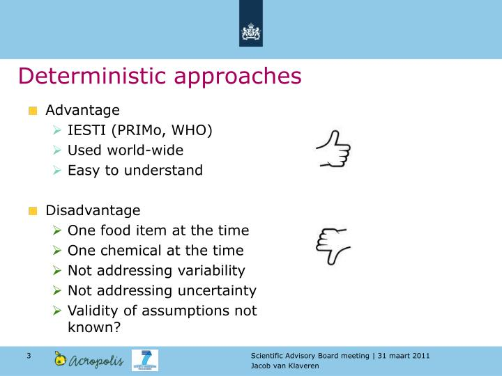 Deterministic approaches
