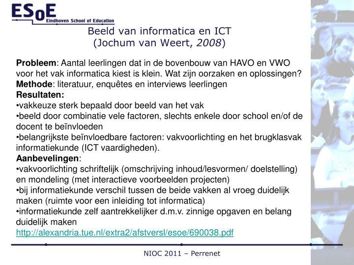 Beeld van informatica en ICT