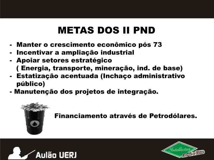 METAS DOS II PND