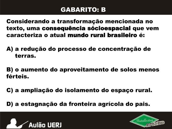 GABARITO: B