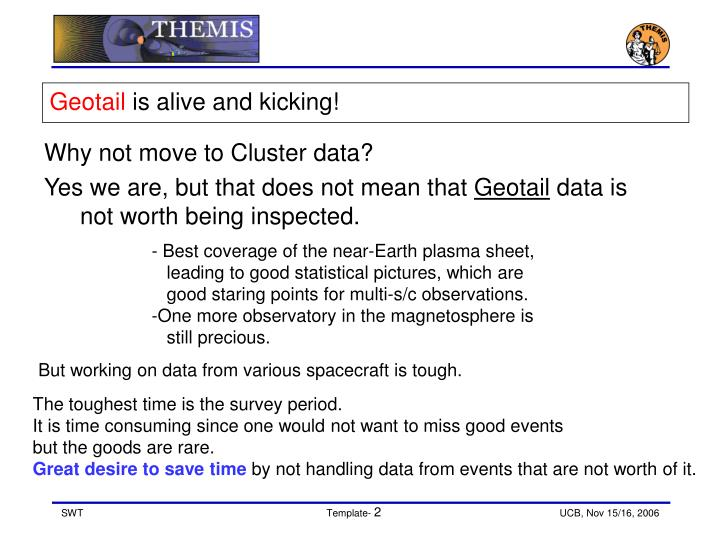 Geotail is alive and kicking