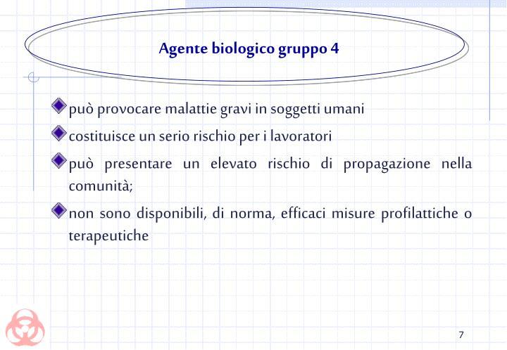 Agente biologico gruppo 4