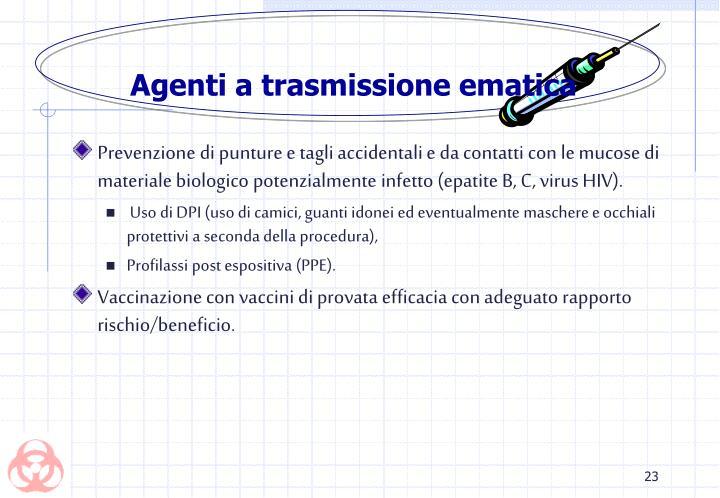 Agenti a trasmissione ematica