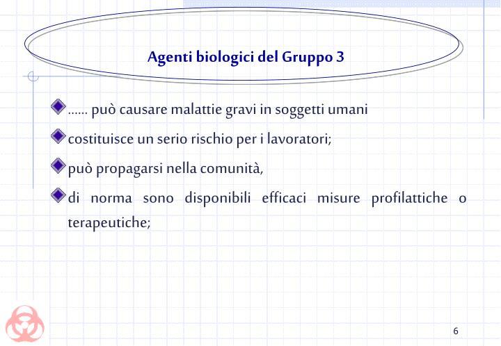 Agenti biologici del Gruppo 3