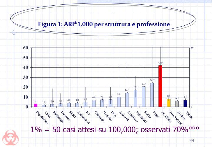Figura 1: ARI*1.000 per struttura e professione