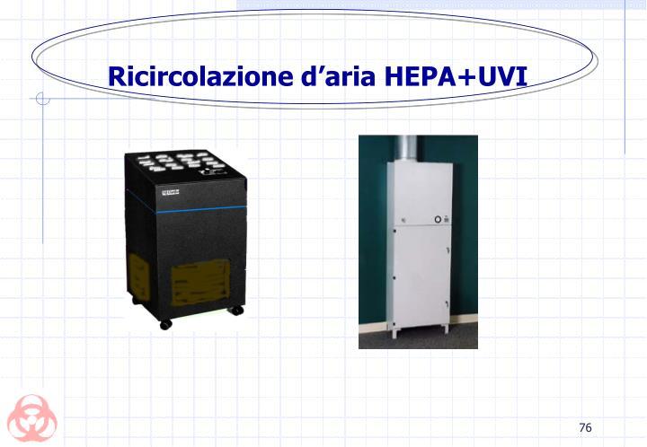 Ricircolazione d'aria HEPA+UVI