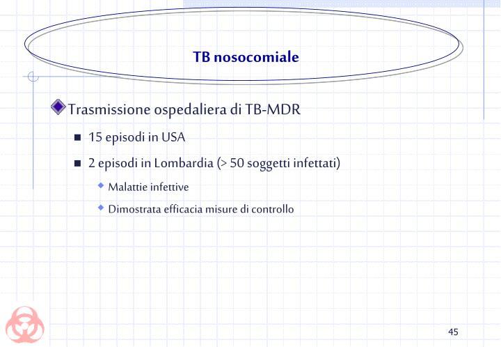 TB nosocomiale