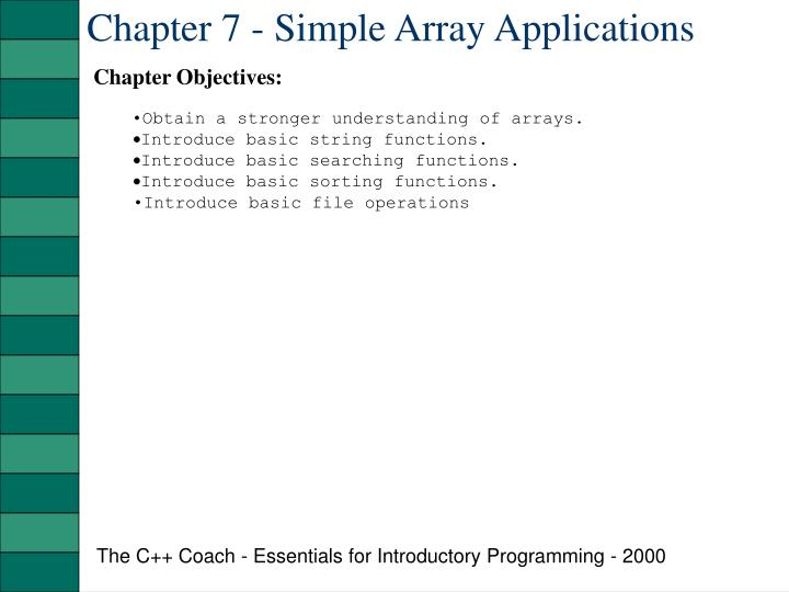 Chapter 7 simple array applications