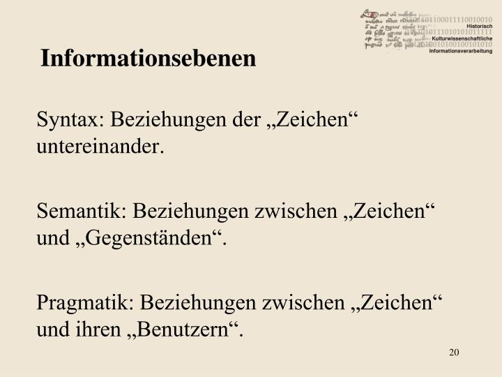 Informationsebenen