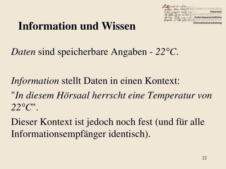 Information und Wissen