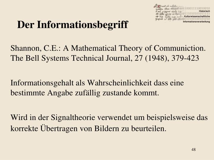 Der Informationsbegriff
