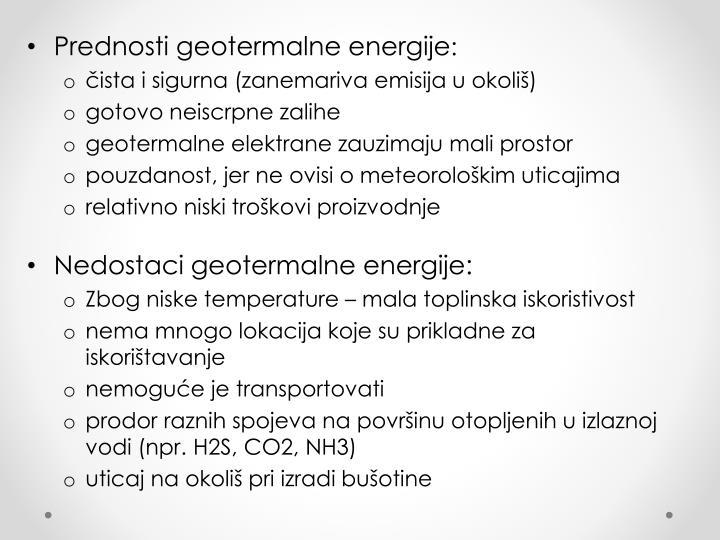 Prednosti geotermalne energije