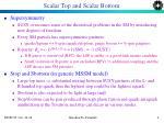 scalar top and scalar bottom