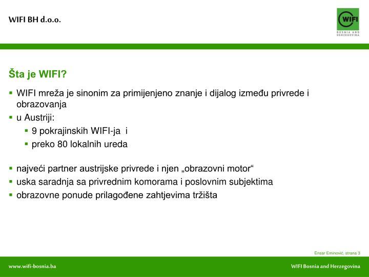 Šta je WIFI?