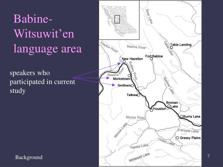 Babine-Witsuwit'en language area