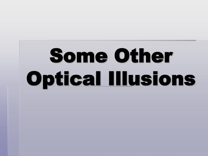 Some Other Optical Illusions