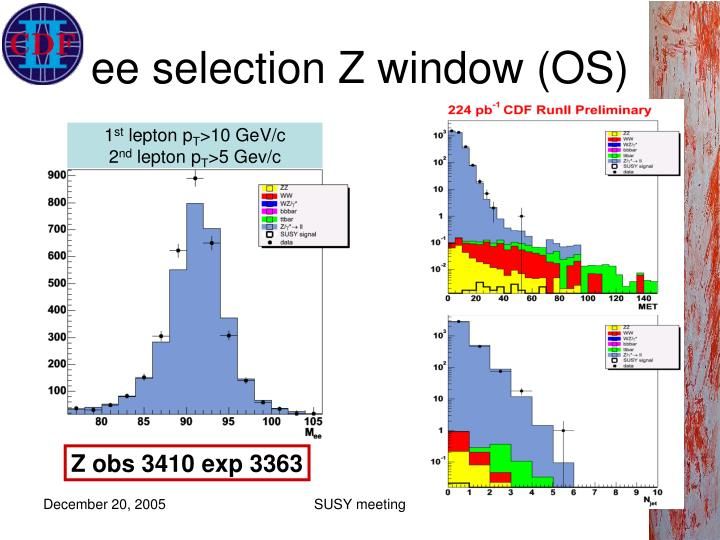 ee selection Z window (OS)