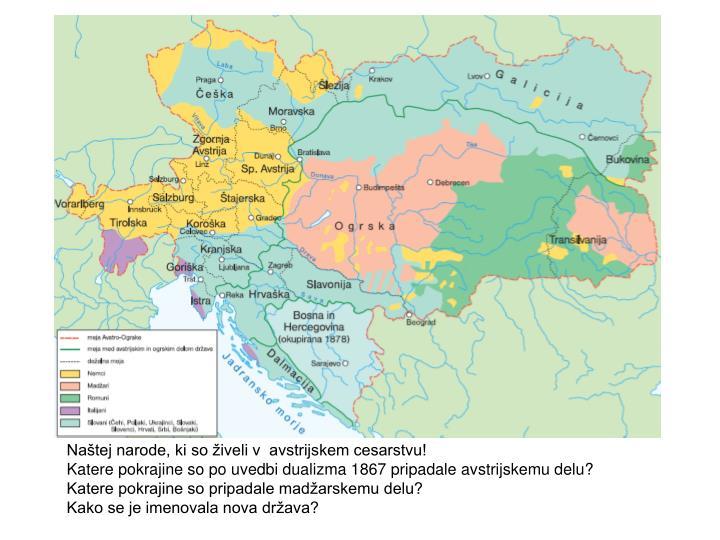 Naštej narode, ki so živeli v  avstrijskem cesarstvu!