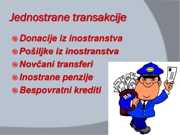 Jednostrane transakcije
