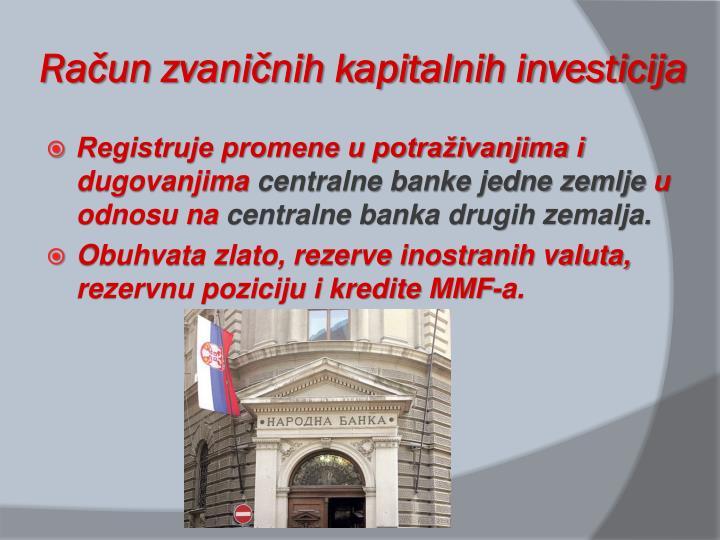 Račun zvaničnih kapitalnih investicija