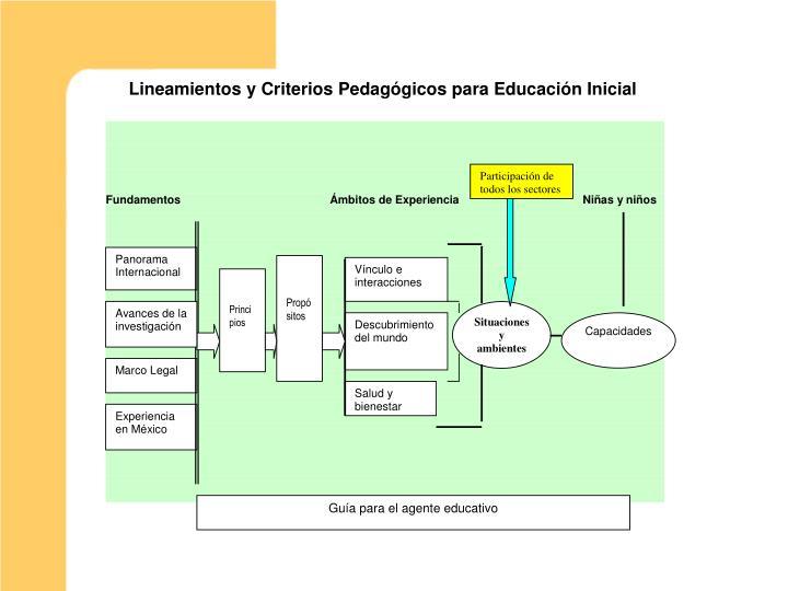 Lineamientos y Criterios Pedagógicos