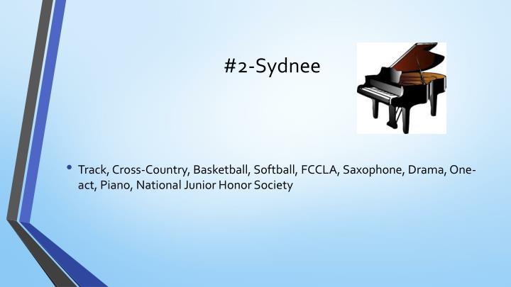 #2-Sydnee