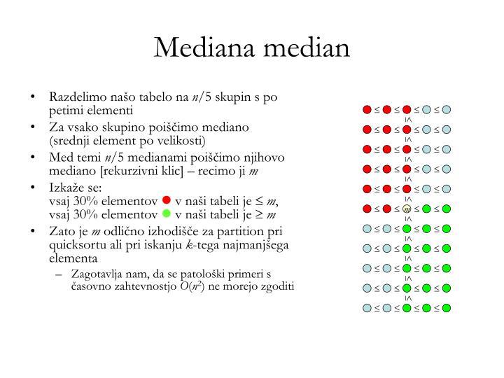 Mediana median