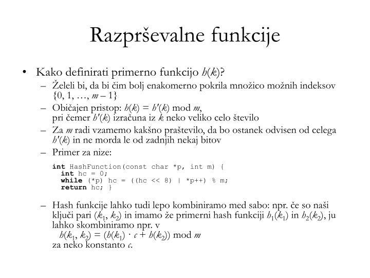 Razprševalne funkcije