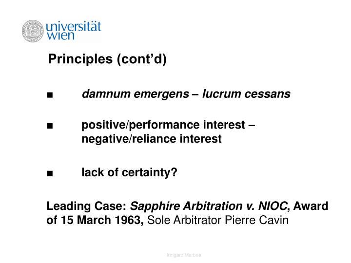 Principles (cont'd)