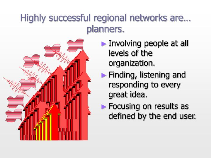 Highly successful regional networks are…