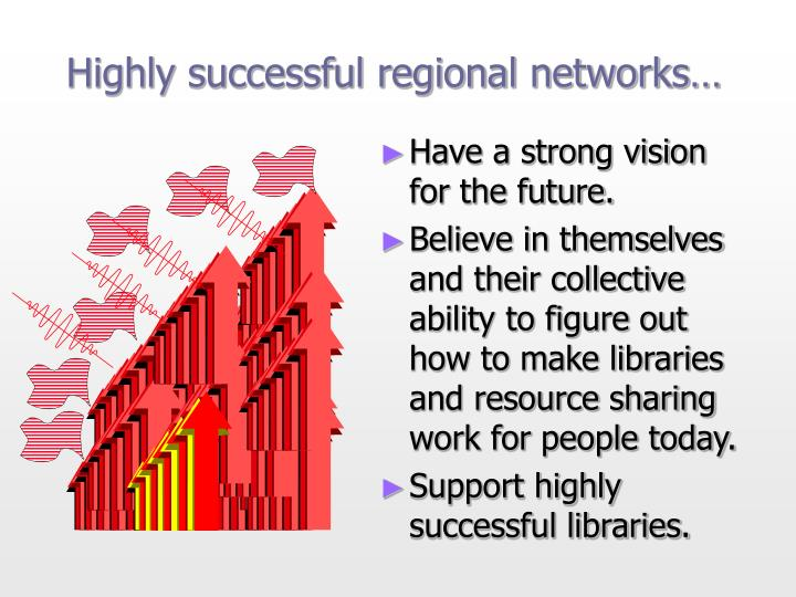 Highly successful regional networks…