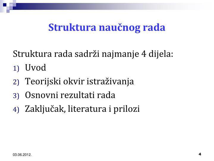 Struktura naučnog rada