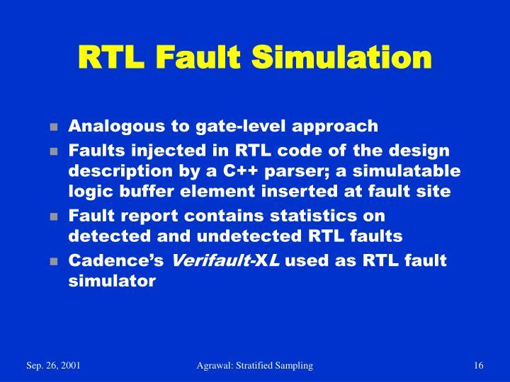 RTL Fault Simulation