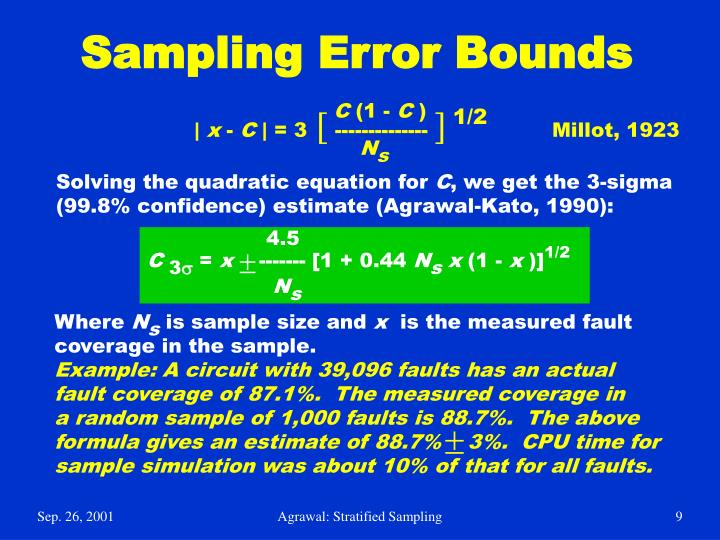 Sampling Error Bounds