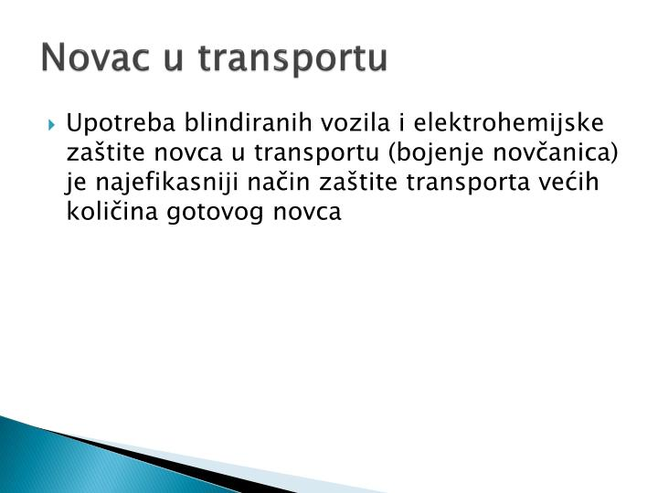 Novac u transportu