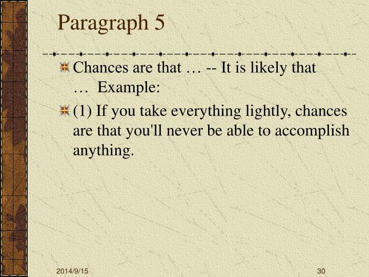 Paragraph 5