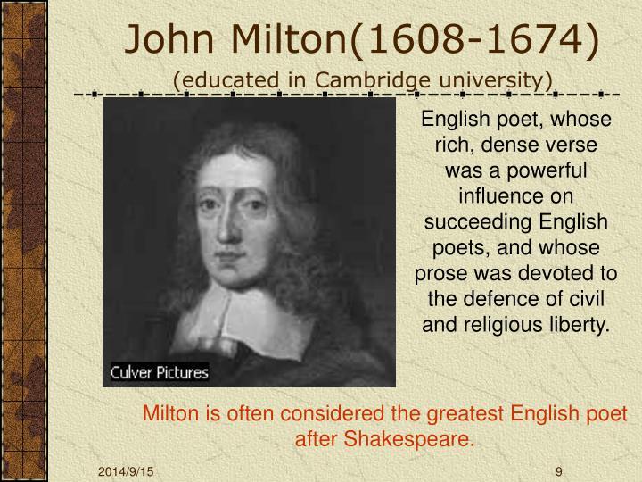John Milton(1608-1674)