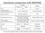sensitivity c omparison with mosfire