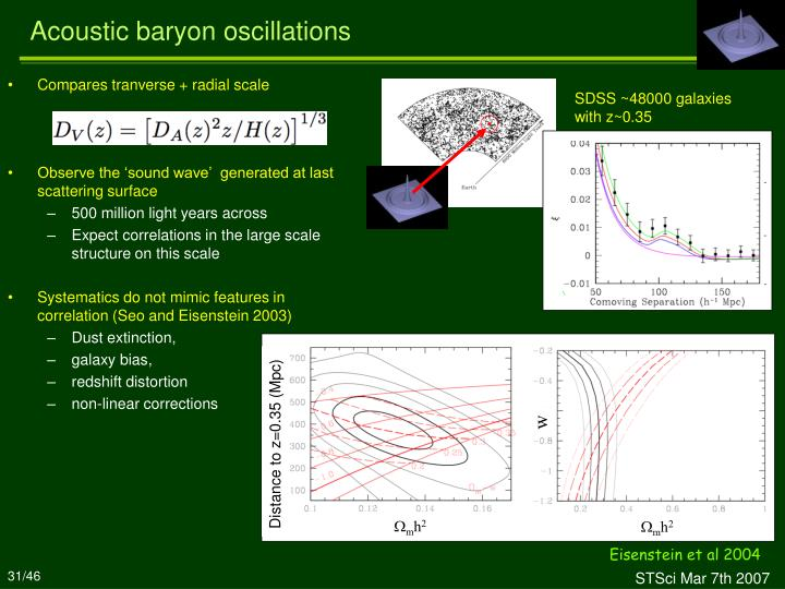 Acoustic baryon oscillations