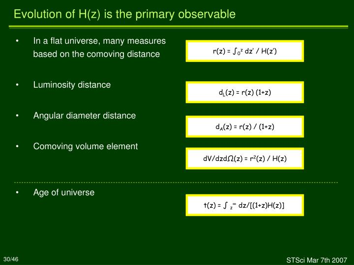 In a flat universe, many measures based on the comoving distance