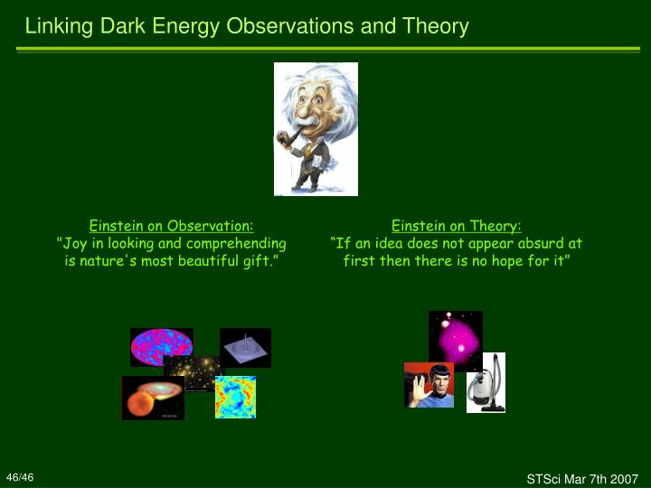 Linking Dark Energy Observations and Theory